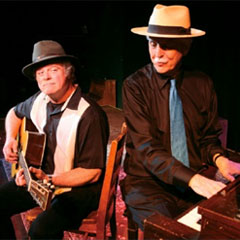 Butch Thompson & Pat Donohue together in the Dunsmore Room at Crooners Lounge and Supper Club January 17th